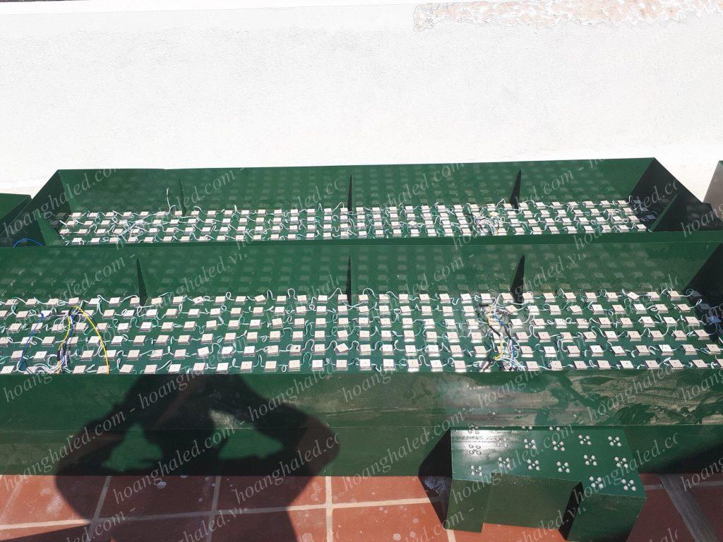 Sản xuất và thi công bộ chữ trên nóc tòa nhà tại Thái Bình Group