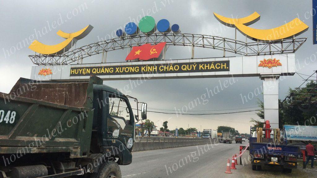 Bảng cổng chào điện tử tại Bỉm Sơn - Thanh Hóa