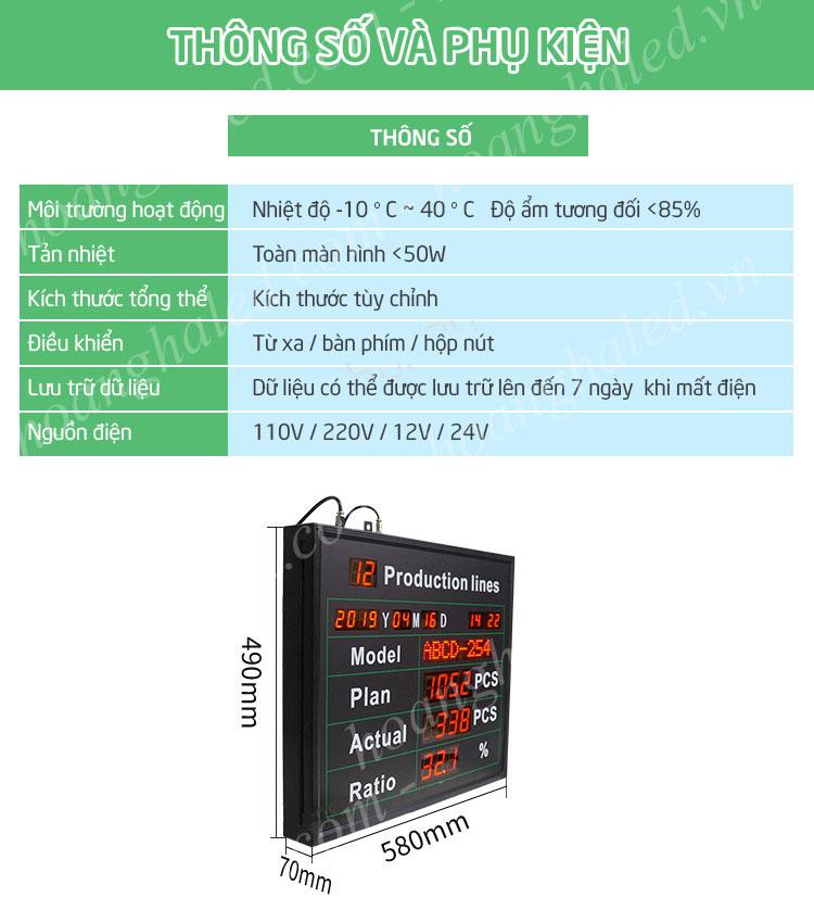 Bảng điện tử led sản xuất với điều khiển từ xa